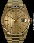 ROLEX 18238 DAY DATE PRESIDENT 18K TAPESTRY DIAL NEW BOX & PAPERS