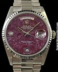 ROLEX 18239 DAY DATE PRESIDENT GROSSULAR DIAL WITH DIAMOND MARKERS AUTOMATIC
