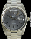 ROLEX DAY DATE PRESIDENT 18239 18K WHITE GOLD GRAY DIAL