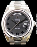 ROLEX DAY DATE II 218206 PLATINUM PRESIDENT BLACKOUT