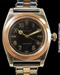 ROLEX 3133 BUBBLE BACK 18K ROSE/STEEL CALIFORNIA DIAL