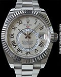 ROLEX SKY DWELLER 326939 18K WHITE GOLD BOX & PAPERS