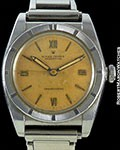 ROLEX BUBBLE BACK 3372 STEEL SALMON DIAL