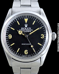 ROLEX REF 5500 BOYS SIZE 3-6-9 EXPLORER BEAUTIFUL PATINA BARGAIN PRICE