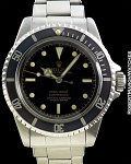 ROLEX SUBMARINER 5512 GILT GLOSS UNDERLINE DIAL POINTED CROWN GUARDS STEEL