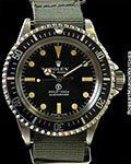 ROLEX MILITARY SUBMARINER 5513 STEEL w/ ROLEX SERVICE PAPERS
