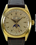 ROLEX TRIPLE DATE MOONPHASE 6062 AUTOMATIC 18K