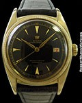 ROLEX 6075 OYSTER PERPETUAL OVETTONE 18K AUTOMATIC BIG BUBBLE BACK