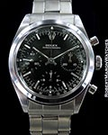 ROLEX UNPOLISHED 6238 PRE-DAYTONA CHRONOGRAPH STEEL BLACK DIAL 1964