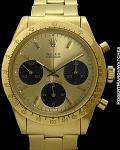 ROLEX 6239 DAYTONA GOLD DIAL WITH OYSTER 18K BRACELET