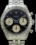 ROLEX 6239 DAYTONA MK1 2X SWISS UNDERLINE BLACK DIAL