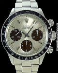 ROLEX DAYTONA 6240 LARGE LOGO TROPICAL DIAL STEEL