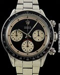 ROLEX PAUL NEWMAN 6240 DAYTONA BLACK DIAL STEEL