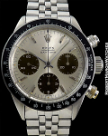 ROLEX 6240 SILVER LARGE DAYTONA TROPICAL