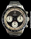 ROLEX PAUL NEWMAN DAYTONA 6241 STEEL BOX PAPERS 1967