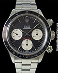 ROLEX 6263 BIG RED DAYTONA STEEL BLACK DIAL