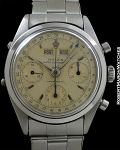 ROLEX REF 6236 DATO-COMPAX IN STERLING SILVER RARE UNTOUCHED ORIGINAL JEAN-CLAUDE KILLY