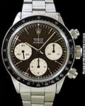 ROLEX TROPICAL 6263 BROWN DIAL DAYTONA STEEL BOX & PAPERS
