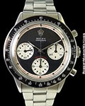 ROLEX 6264 PAUL NEWMAN DAYTONA STEEL BLACK 3 COLOR DIAL