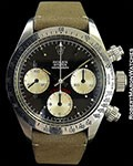 ROLEX 6265 DAYTONA BIG RED STEEL 1972 SERIAL # INSIDE CASE BACK