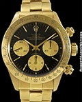 ROLEX 6265 UNPOLISHED 18K DAYTONA R SERIAL BLACK DIAL