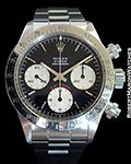 ROLEX DAYTONA 6265 STEEL BLACK BIG RED DIAL NEW OLD STOCK 1985