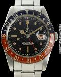 ROLEX REF 6542 GMT MASTER GILT GLOSS DIAL PEPSI BEZEL CIRCA 1958