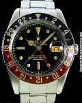ROLEX GMT 6542 GILT GLOSS DIAL STEEL