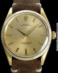 ROLEX 6569 OYSTER PERPETUAL 18K COIN EDGE BEZEL 1955