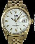 ROLEX DATEJUST 6605 GOLD CONCORDE DIAL