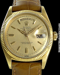 ROLEX REF 6611 DAY-DATE CHAMPAGNE DIAL