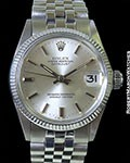 ROLEX 6627 DATEJUST MIDSIZE 18K WHITE GOLD AUTOMATIC