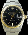 ROLEX AIR-KING DATE PRESENTATION WATCH 14K/STEEL