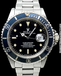 ROLEX 16610 EARLY VERSION JOHN COLTRANE SUBMARINER COLOR-CHANGE 'BLUE' BEZEL BOX PAPERS