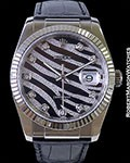 ROLEX 116139 DATEJUST ZEBRA DIAMONDS 18K WG