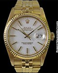 ROLEX 16018 DATEJUST 18K WHITE DIAL