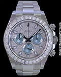 "ROLEX DAYTONA ""ICE"" PLATINUM DIAMOND BAGUETTES & PAVE 116576TBR NEW 2015"