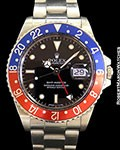 ROLEX 16750 GMT MASTER UNPOLISHED STEEL BOX PAPERS R SERIAL