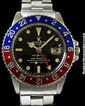 ROLEX 1675 GMT MASTER TIFFANY & CO STEEL AUTOMATIC
