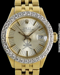 ROLEX KHANJAR 18K DATEJUST DIAMOND BEZEL