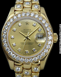 ROLEX DATEJUST LADIES DIAMOND BEZEL BRACELET