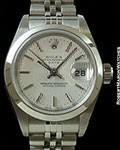ROLEX LADY DATE UNPOLISHED STEEL TAPESTRY DIAL BOX & PAPERS