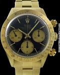 ROLEX REF 6265 DAYTONA SIGMA BIG EYE DIAL 3.9M SERIAL 18K CIRCA 1974