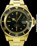 ROLEX 1680 SUBMARINER 18K BLACK DIAL