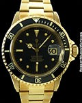 ROLEX SUBMARINER 1680 18K BLACK DIAL