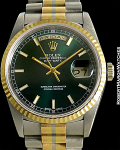 ROLEX REF 18239 DAY-DATE TRIDOR GREEN DIAL