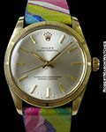 ROLEX VINTAGE 14K OYSTER PERPETUAL HAND PAINTED STRAP