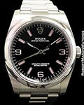 ROLEX 116000 OYSTER PERPETUAL STEEL AUTOMATIC PINK MARKERS NEW