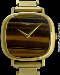 VACHERON CONSTANTIN TIGER-EYE CUSHION IN 18K CIRCA 1960