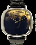 VACHERON CONSTANTIN VINTAGE UNPOLISHED 18K WHITE GOLD TIGER'S EYE DIAL